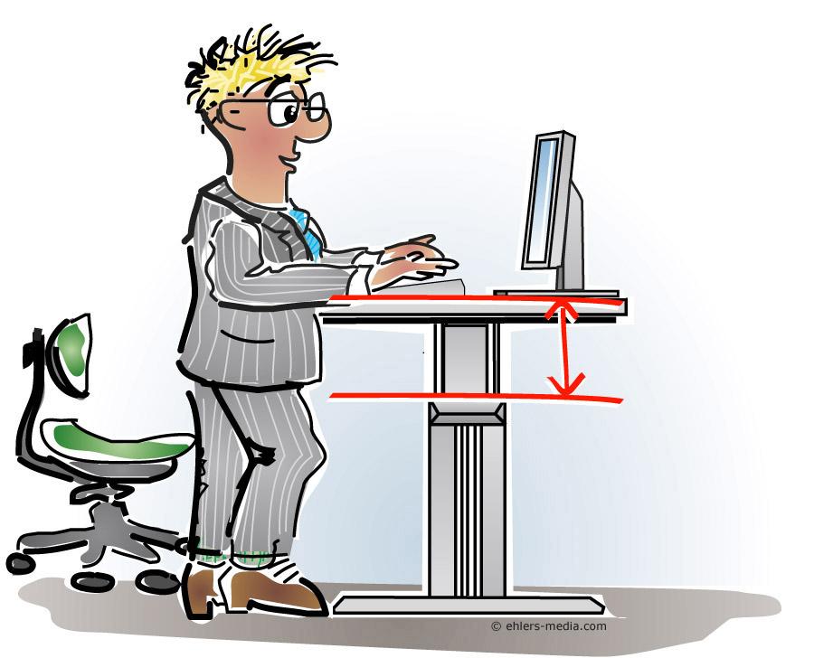 Schreibtisch büro comic  ergonomie   medien. didaktik. beratung.: Ergonomie Cartoons